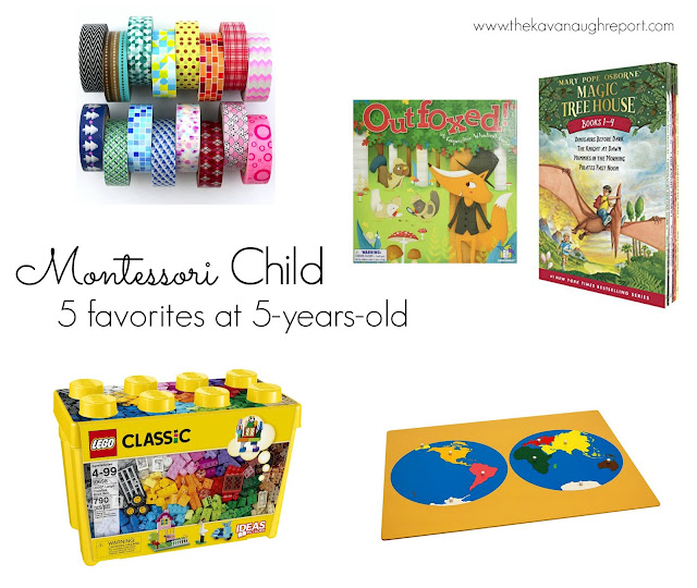 Montessori child favorites at 5-years-old
