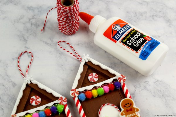 Popsicle Gingerbread House Craft