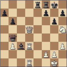 Partida de ajedrez F. J. Pérez - Manuel Golmayo, posición después de 27…g6