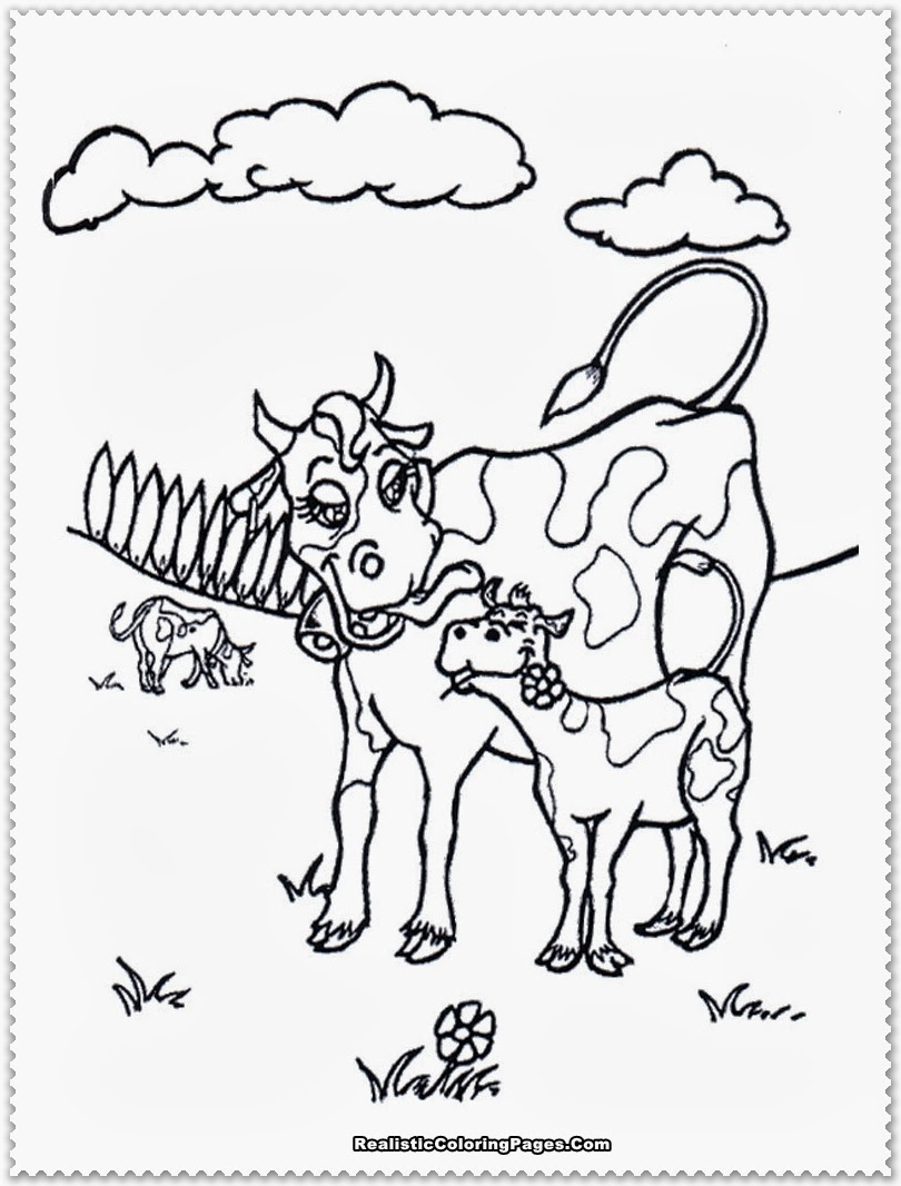 Farm Animal Coloring Pages Realistic