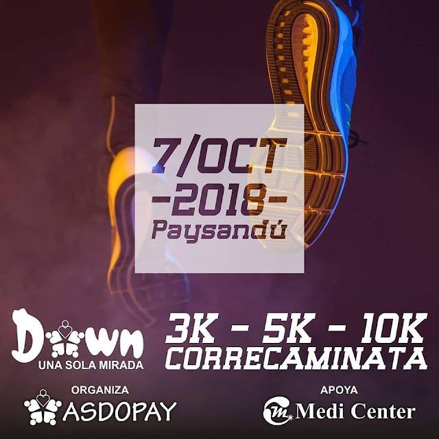 10k 5k 3k Correcaminata por Asdopay - Asociación Down de Paysandú (07/oct/2018)