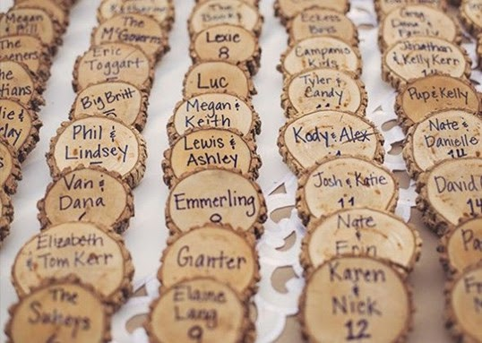 rustic country wedding favors Wood Place Cards