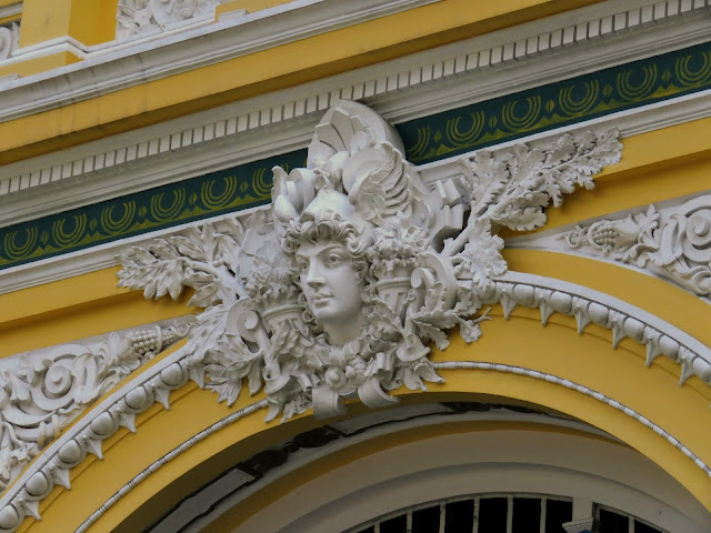 Non-touristy Vietnam: Face on the facade of the post office in Ho Chi Minh City Vietnam