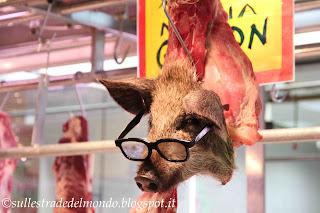Il mercato alimentare, reparto carne