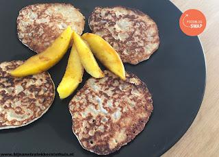 havermoutpannenkoekjes met kokosmelk en mango foodblogswap