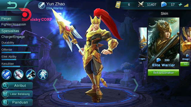 Hero Yun Zhao ( Prajurit Elit ) High Attack Damage Build Set up Gear