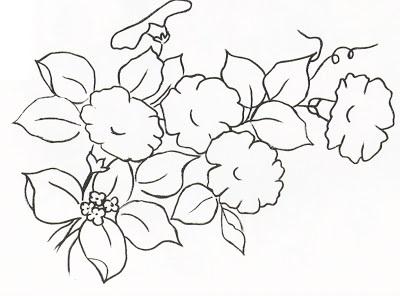 como pintar flor em tecido