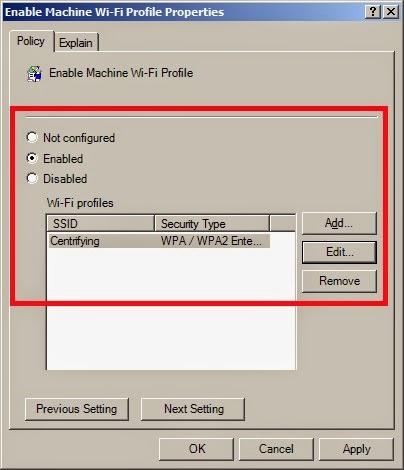 Wireless EAP-TLS 802.1x Configuration
