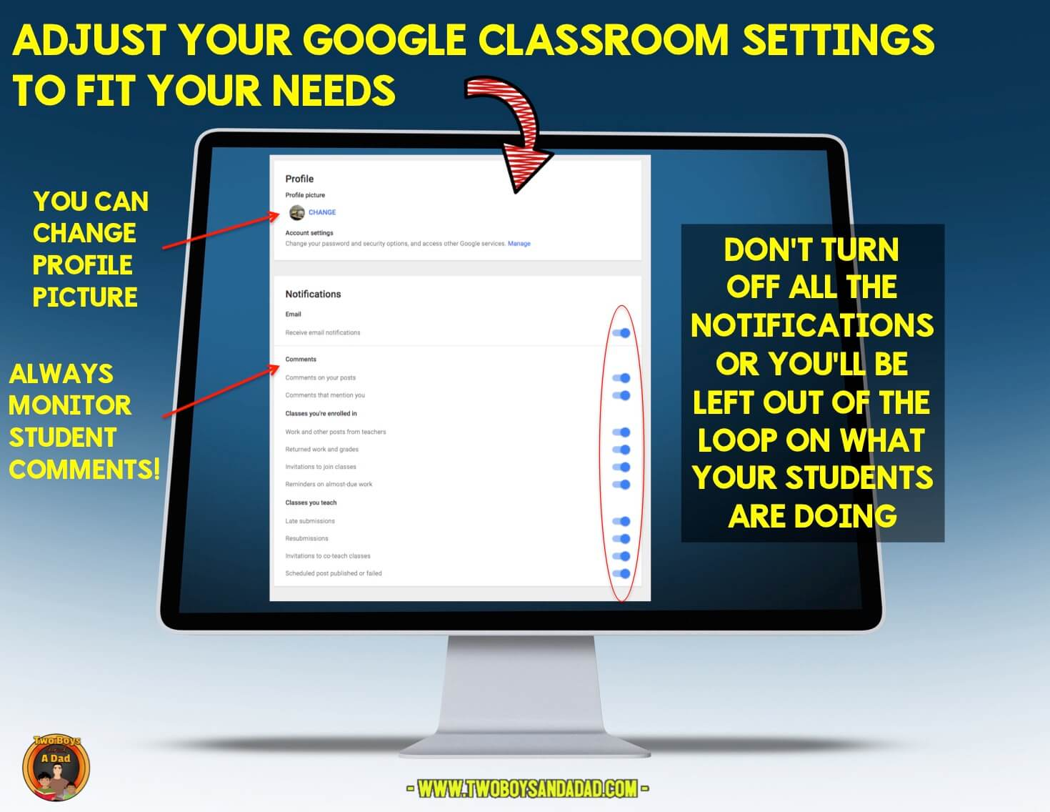 Add guardians to Google Classroom