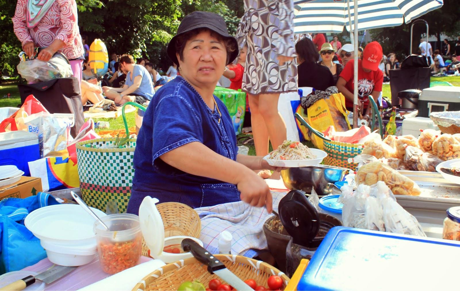 Preußenpark - the Thai market in Berlin // Tajski market w Berlinie