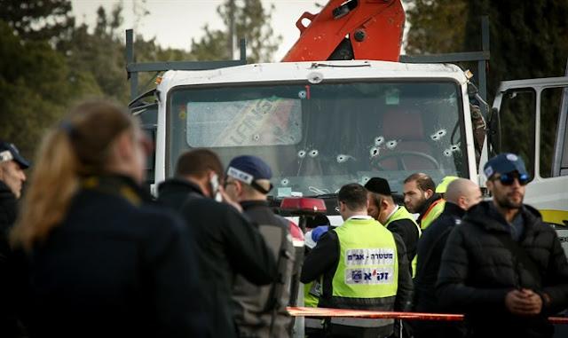 Camión utilizado en el ataque terrorista en Jerusalém
