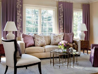 Design Warna Ruangan Tamu Bernuansa Ungu