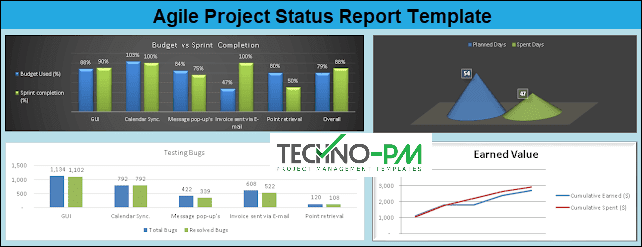 Agile Project Status Report Excel Template, agile project management templates