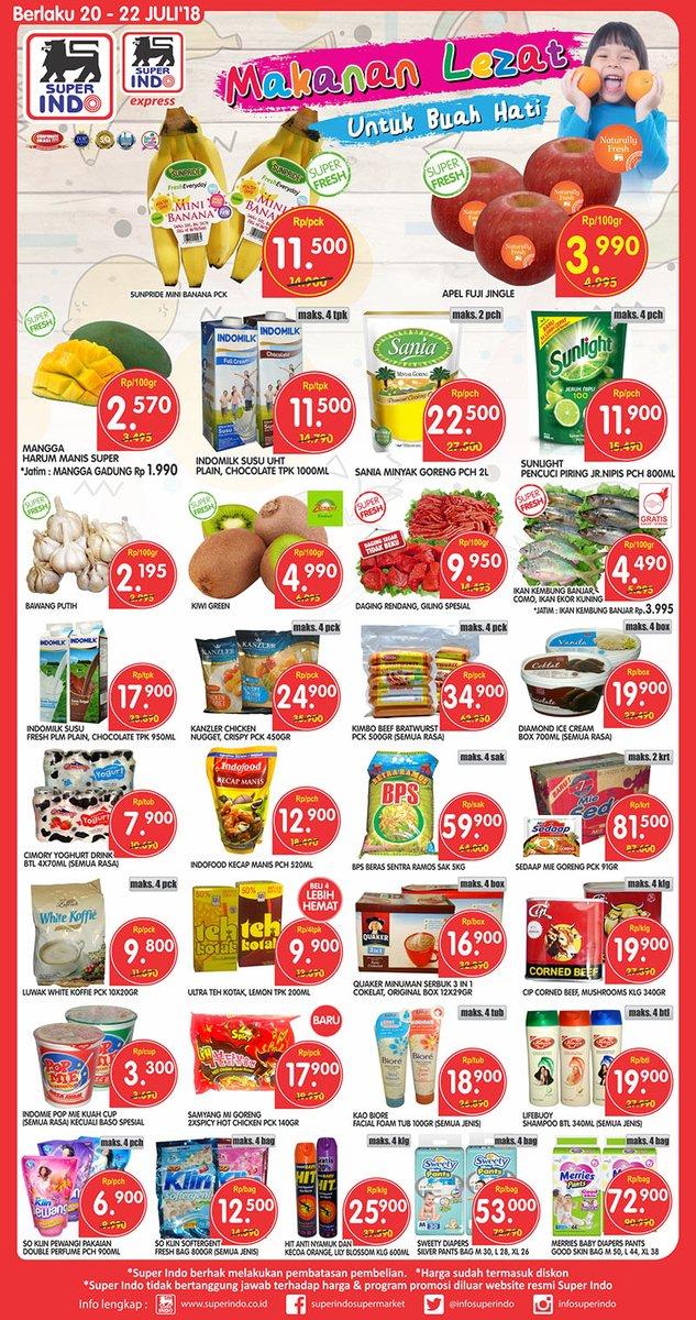 Superindo - Katalog Promo Makanan Lezat Periode 20 - 22 Juli 2018