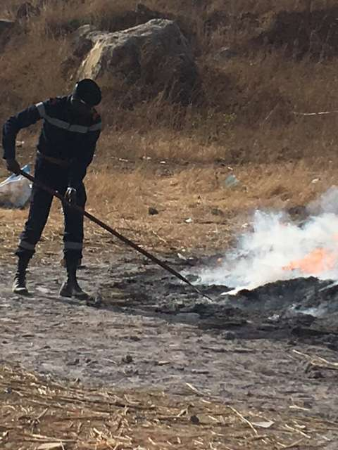 Senegal burns tonnes of cannabis