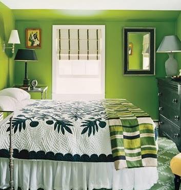 A mi manera: Decorar dormitorio en color verde relajante