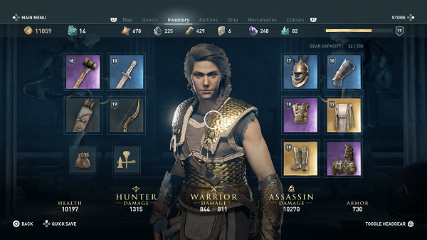 Assassin's Creed Odyssey Gear