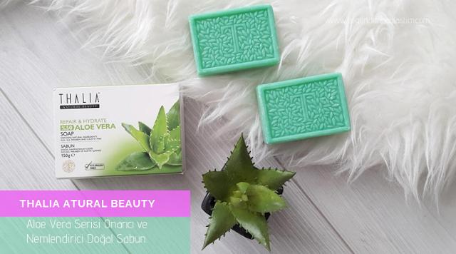 Thalia atural Beauty Aloe Vera Serisi Onarıcı ve Nemlendirici Doğal Sabun