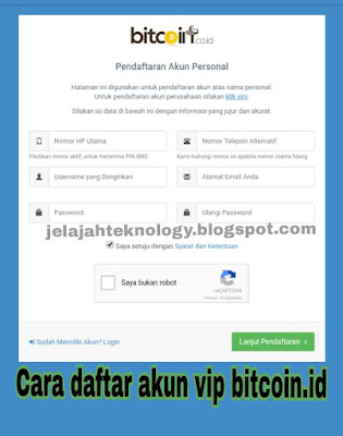 Formulir pendaftaran bitcoin