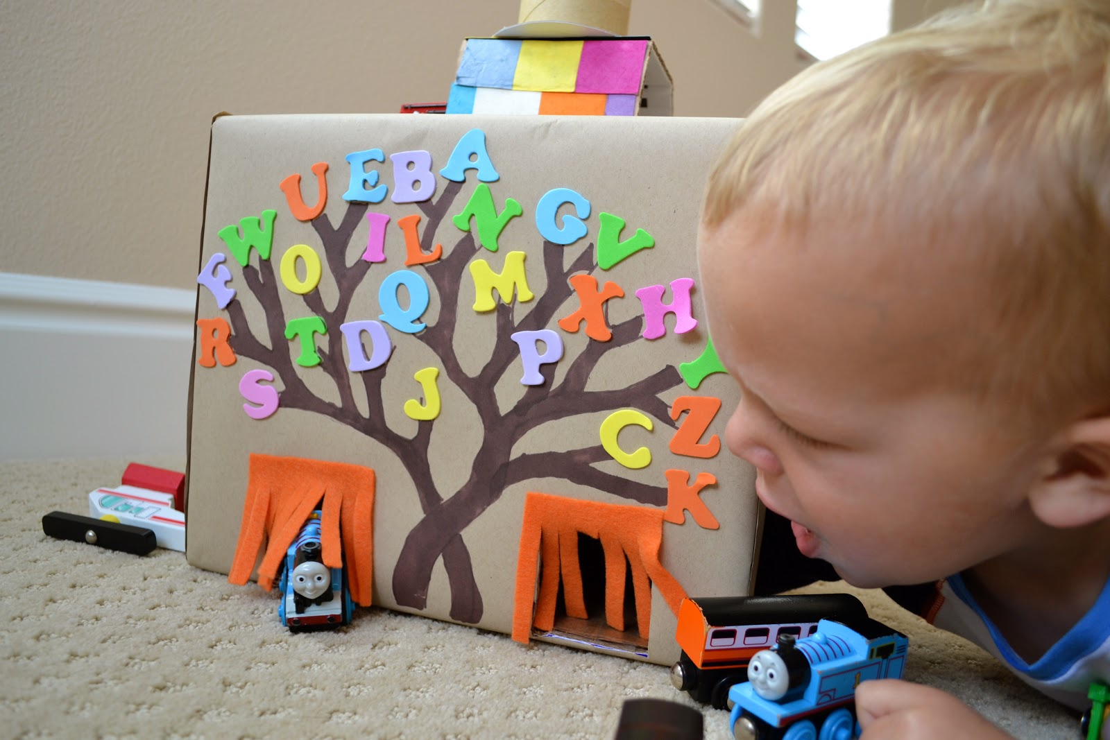 Very Hungry Caterpillar Wall Stickers Turn A Cardboard Box Into A Train Amp Car Tunnel Color