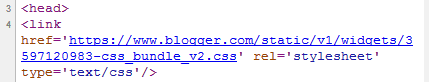 css Blogger