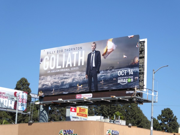 Goliath series premiere billboard