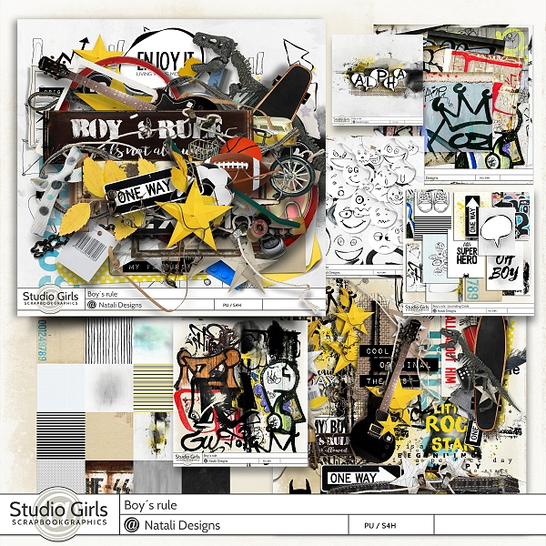 http://shop.scrapbookgraphics.com/Boy-s-rule-Bundle.html