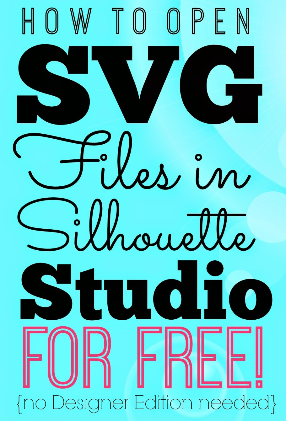 Opening SVGs in Silhouette Studio for Free (without
