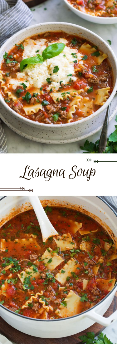 Lasagna Soup #recipe #dinner