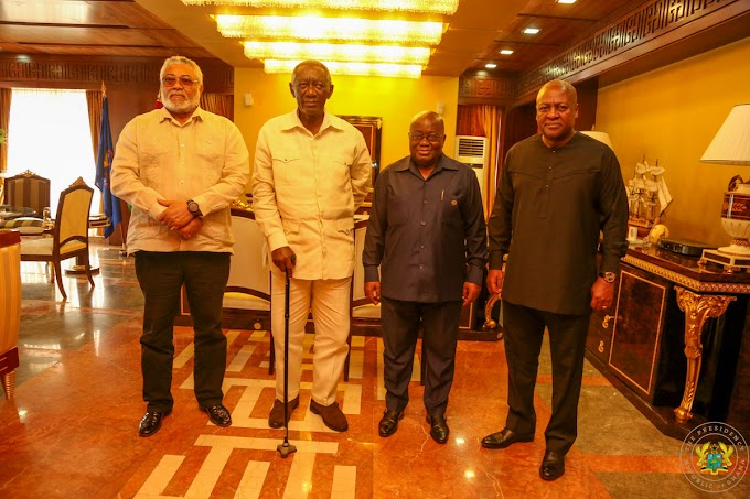 (Photos): When the 3 Johns met Akufo-Addo