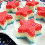 Red White Blue Coconut Stars