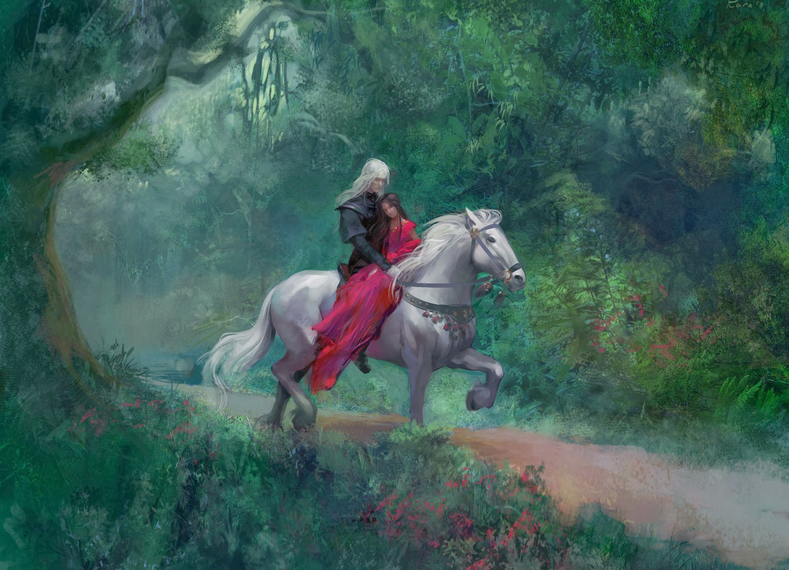 Beautiful-lovers-riding-horse-through-forest-painting-HD.jpg