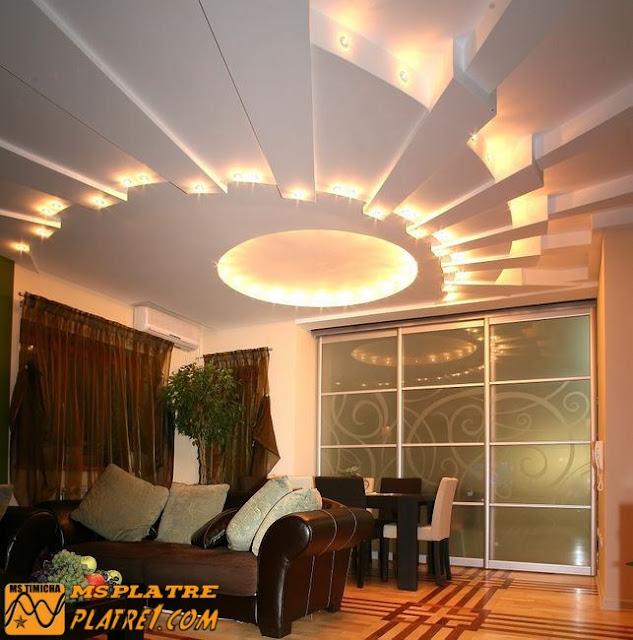 Plafond en plâtre pour une moderne salon