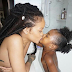 Rihanna kisses her favourite niece Majesty