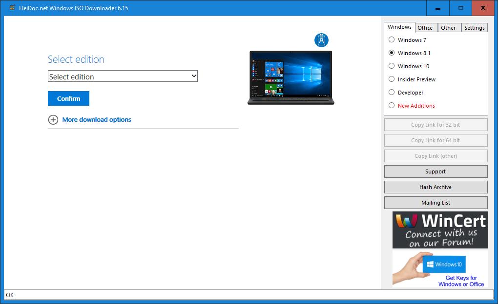 Windows ISO Downloader - Phần Mềm Giúp Tải Tất Cả Các File .ISO Windows, Office Về Máy Tính