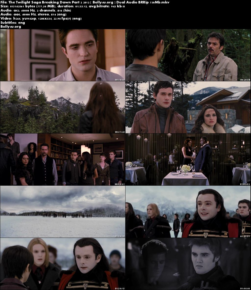 The Twilight Saga Breaking Dawn Part 2 2012 BRRip Dual Audio 350MB 480p Download