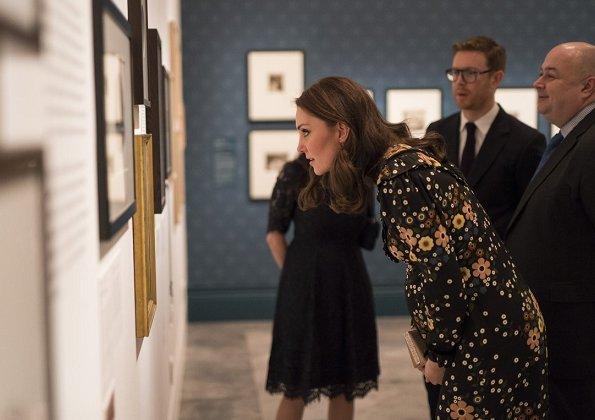 Kate Middleton wore Orla Kiely Margaret Smock Bib Floral Print Dress