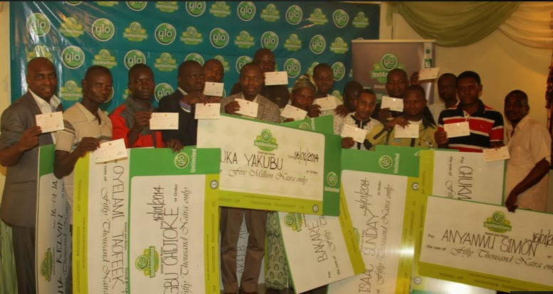 glo text 4 millions 2014 winners
