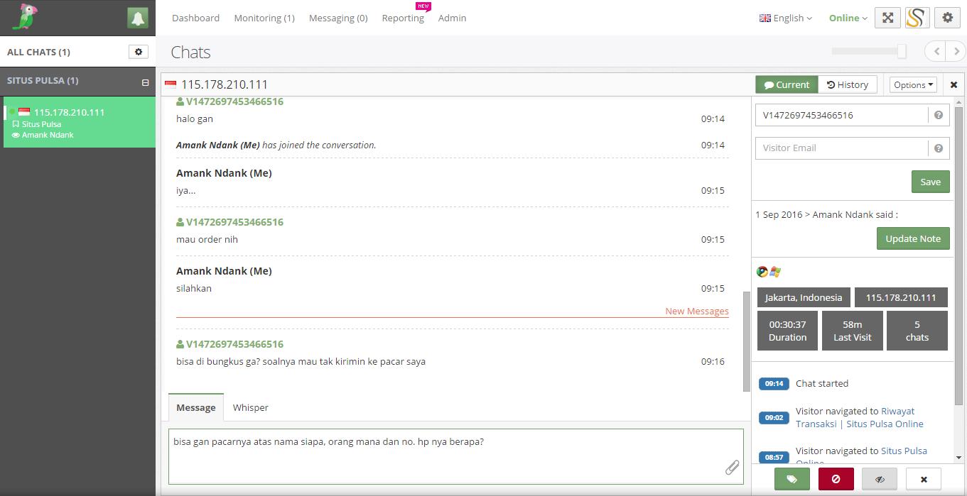 Cara Mudah Memasang Live Chat di Blog atau Website dengan Tawk.to