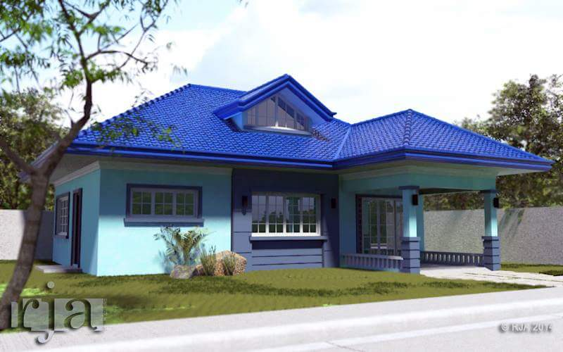 20 small beautiful bungalow house design ideas ideal for philippines - Blue House Design