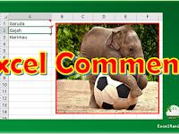 Cara Merubah Tampilan Kolom Komentar Excel