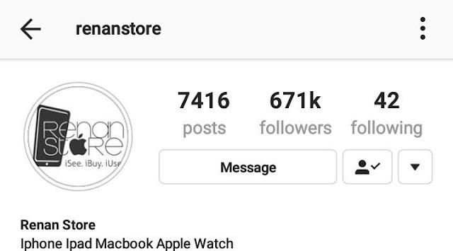 renan store instagram