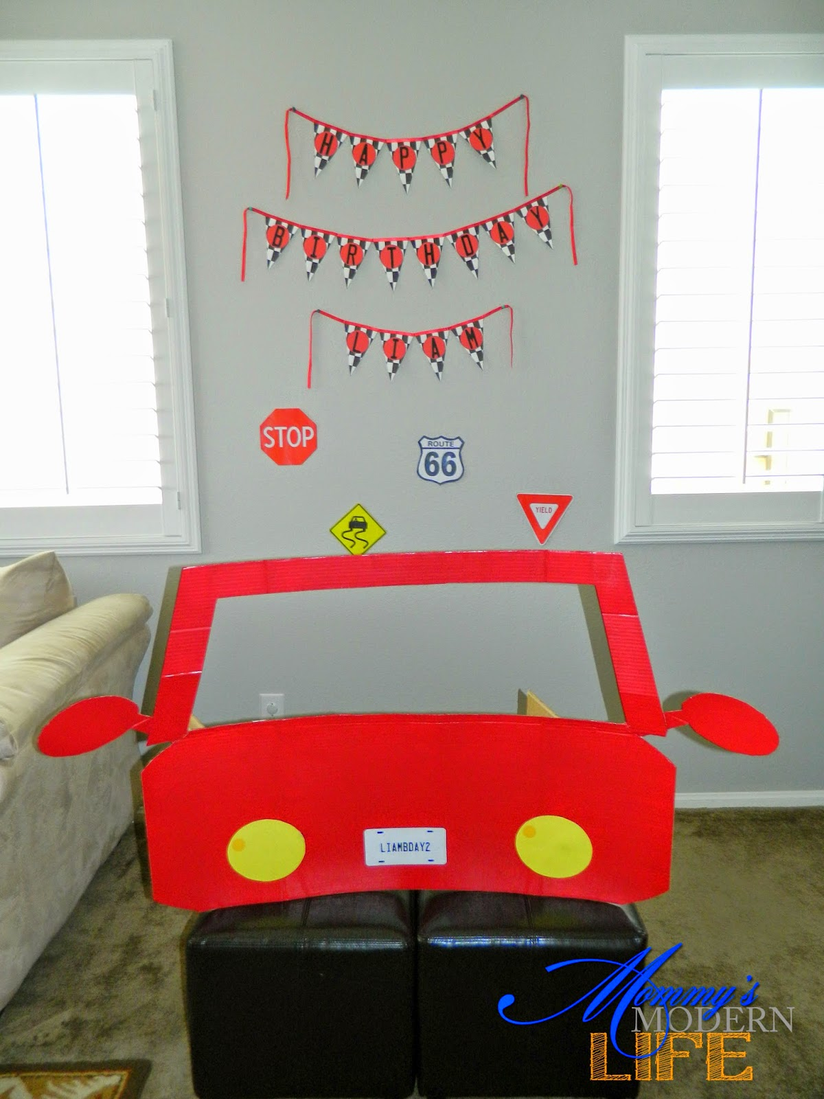 Mommy S Modern Life How To Car Themed Birthday Party On