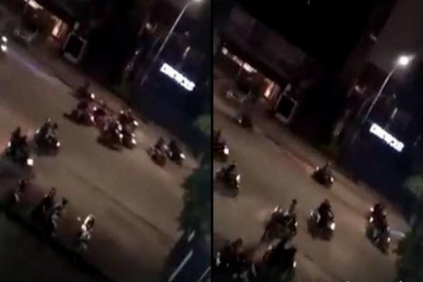 Diduga Geng Motor, Gerombolan Orang-orang ini Lakukan Kerusuhan di Kemang