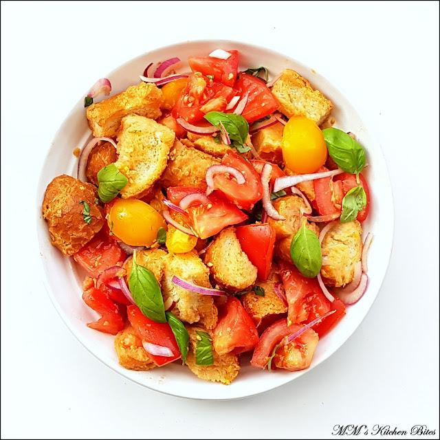 Italian Bread Salad mmskitchenbites