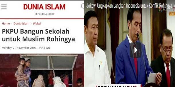 """Jokowi """"Klaim"""" Sekolah Bantuan PKPU di Rakhine (Rohingya) Bantuan Pemerintah RI!"""