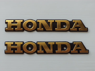 Honda CG 125  Metal side badges emblems