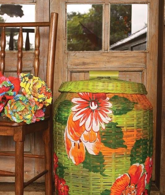 Manualidades con cestas de mimbre mimundomanual - Reciclar cestas de mimbre ...