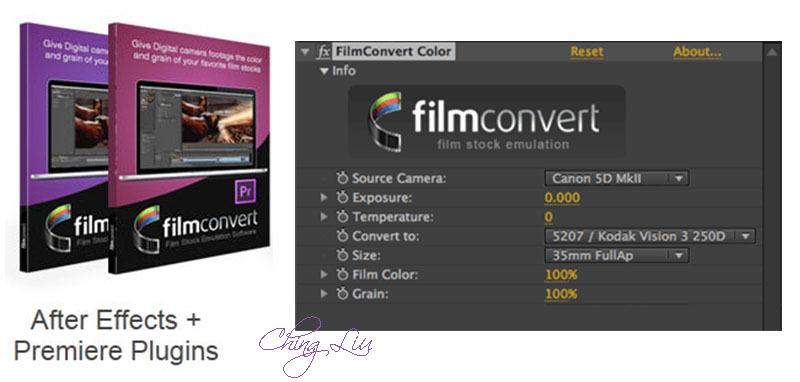 FilmConvert Pro 1 34 plugin (After Effects-Premiere) + crack