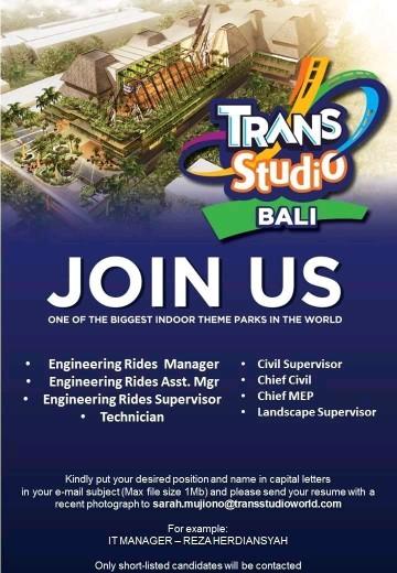 Lowongan kerja Trans Studio Bali bagian 1 2018